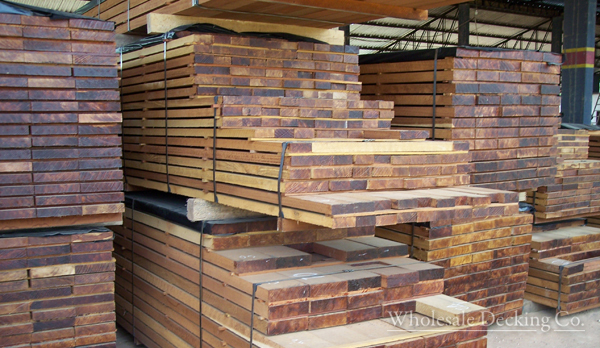 wholesale decking stacked